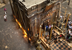 Tomb of Jesus from Above