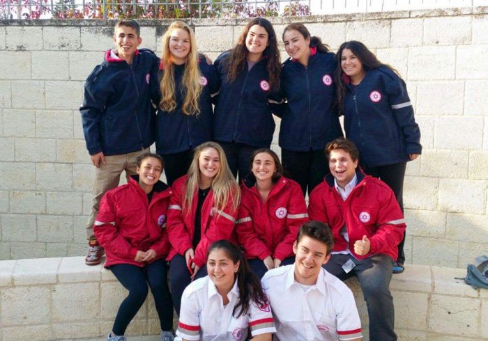 Group of Young Judaea Medical Track teens in Israel