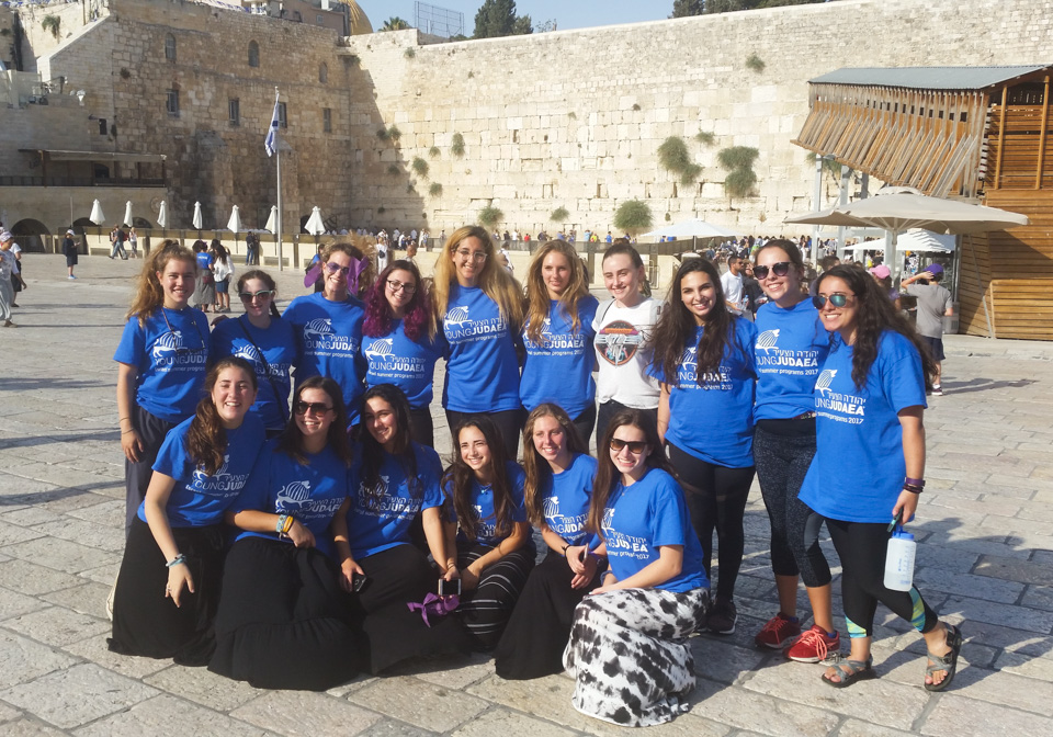 Group of Young Judaea teen girls in Israel