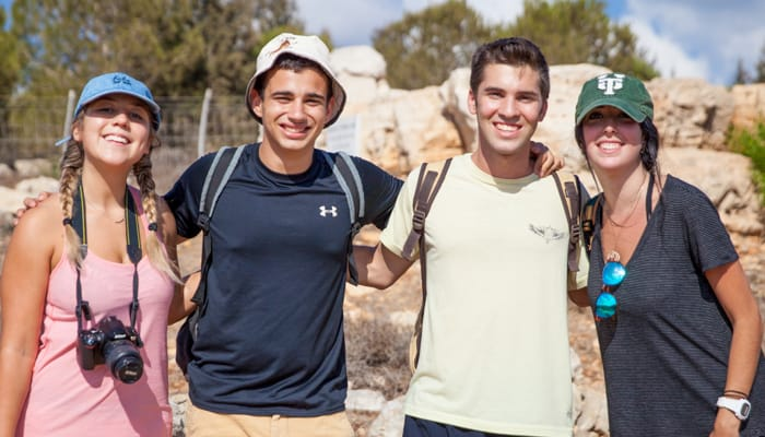 4 teens backpacking