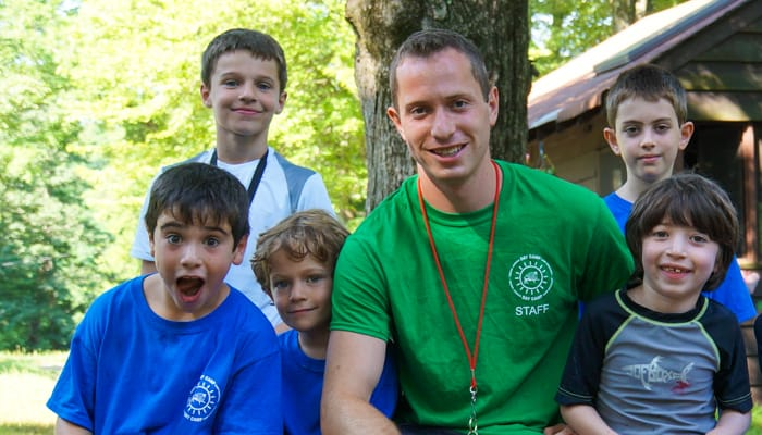 Westchester male staff and boy campers
